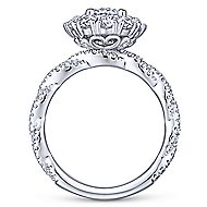 Evangelina 14k White Gold Oval Double Halo Engagement Ring angle 2