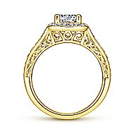 Florence 14k Yellow Gold Round Halo Engagement Ring