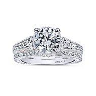 Fonda 18k White And Rose Gold Round Halo Engagement Ring angle 4