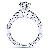 Frances 14k White Gold Round Straight Engagement Ring angle 2