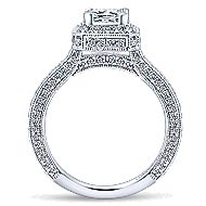 Frederica 14k White Gold Princess Cut Halo Engagement Ring angle 2