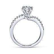 Freya 14k White Gold Round Bypass Engagement Ring angle 2