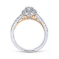Gabbie 14k White And Rose Gold Round Halo Engagement Ring angle 2
