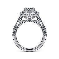 Gardenia 14k White Gold Cushion Cut Double Halo Engagement Ring angle 2