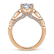Garland 14k Rose Gold Round Straight Engagement Ring