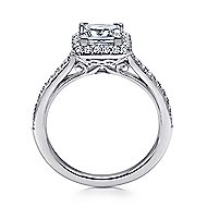 Georgia 18k White Gold Princess Cut Halo Engagement Ring angle 2