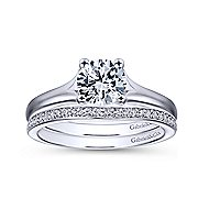 Gillian 14k White Gold Round Solitaire Engagement Ring