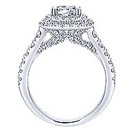 Ginger 14k White Gold Round Double Halo Engagement Ring angle 2