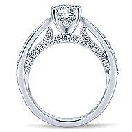 Gladiola 14k White Gold Round Straight Engagement Ring angle 2