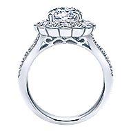 Grace 18k White Gold Round Halo Engagement Ring angle 2