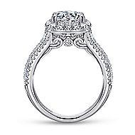 Gramercy 18k White Gold Round Halo Engagement Ring angle 2