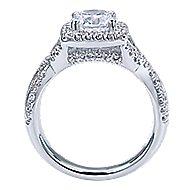 Greta 14k White Gold Round Halo Engagement Ring angle 2