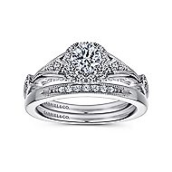 Hale 14k White Gold Round Halo Engagement Ring angle 4