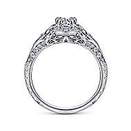 Halsey 14k White Gold Round Halo Engagement Ring angle 2