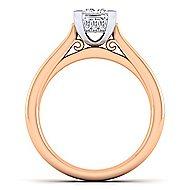 Hannah 14k White And Rose Gold Princess Cut Straight Engagement Ring angle 2