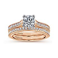 Hayden 14k White And Rose Gold Round Straight Engagement Ring angle 4