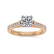 Hayden 14k White And Rose Gold Round Straight Engagement Ring angle 5