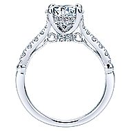 Herlene 18k White Gold Round Halo Engagement Ring angle 2