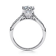 Hollis 14k White Gold Round Straight Engagement Ring angle 2