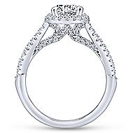 Holly 14k White Gold Round Halo Engagement Ring