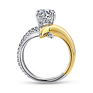 Indiana 18k Yellow And White Gold Round Split Shank Engagement Ring angle 2