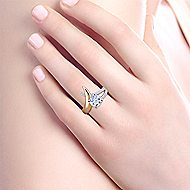 Indiana 18k Yellow And White Gold Round Split Shank Engagement Ring angle 6