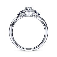 Isabella 14k White Gold Round Halo Engagement Ring angle 2