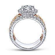 Ivet 14k White And Rose Gold Round Halo Engagement Ring angle 2