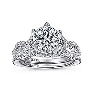 Jacinta 18k White Gold Round Twisted Engagement Ring