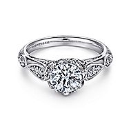 Jaelyn Platinum Round Straight Engagement Ring