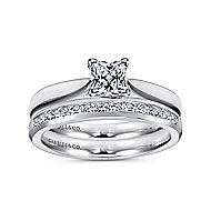 Jamie 14k White Gold Princess Cut Solitaire Engagement Ring
