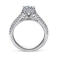 Janelle 14k White Gold Round Split Shank Engagement Ring angle 2