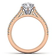 Joanna 14k White And Rose Gold Pear Shape Straight Engagement Ring angle 2