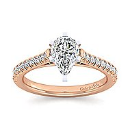 Joanna 14k White And Rose Gold Pear Shape Straight Engagement Ring angle 5