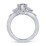 Jules 18k White Gold Marquise  Halo Engagement Ring angle 2