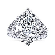 Jules 18k White Gold Marquise  Halo Engagement Ring angle 5
