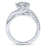 Julissa 14k White Gold Round Bypass Engagement Ring angle 2