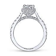 Juno 14k White Gold Round Straight Engagement Ring angle 2