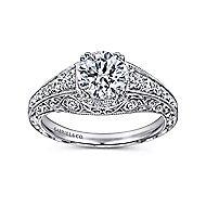 Kali Platinum Round Straight Engagement Ring