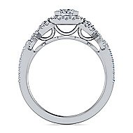 Kalinda Platinum Princess Cut Halo Engagement Ring angle 2