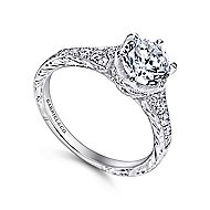 Kearney Platinum Round Straight Engagement Ring