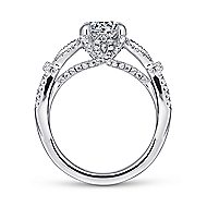Kendra 14k White Gold Round Split Shank Engagement Ring angle 2