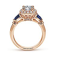 Kenmare 18k Rose Gold Round Halo Engagement Ring