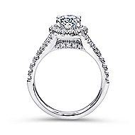 Kennedy 14k White Gold Oval Halo Engagement Ring angle 2