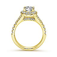 Kennedy 14k Yellow Gold Oval Halo Engagement Ring angle 2