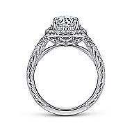 Kinney 14k White Gold Round Halo Engagement Ring