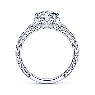 Kirie Platinum Round Straight Engagement Ring angle 2