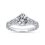 Kirie Platinum Round Straight Engagement Ring angle 5