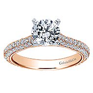 Kirsten 14k White And Rose Gold Round Straight Engagement Ring angle 5