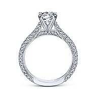 Kirsten 14k White Gold Round Straight Engagement Ring angle 2